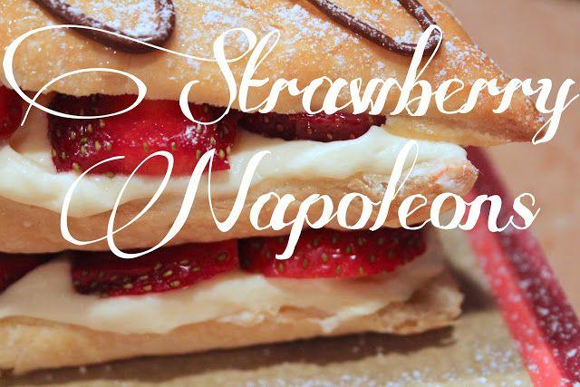 Strawberry Napoleons   Yum   Pinterest