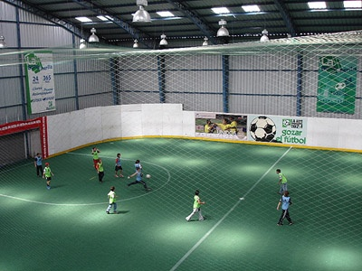 Mansion with indoor soccer field  Indoor soccer. Love playing it... even though the sprints tend to ...
