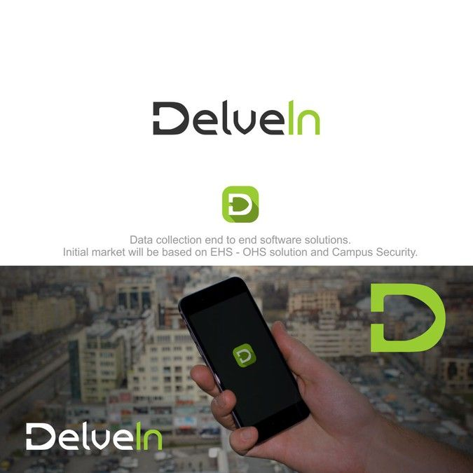 Create a unique logo for tech startup DelveIn providing complete data solutions. by Seven_Art99