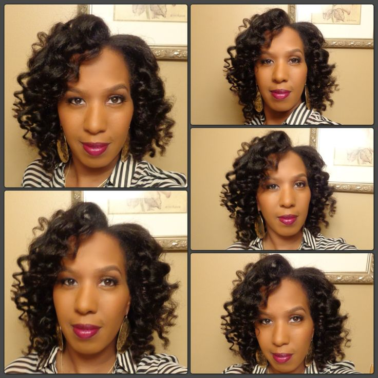 Used the Remington Curling Wand on my natural kinky hair to create these curls.