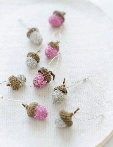 Sweet Paul's DIY Glitter Acorn Ornaments
