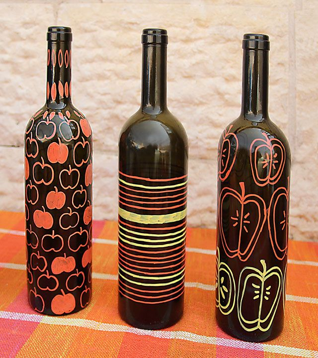 Wine bottle art for all those empty wine bottles.