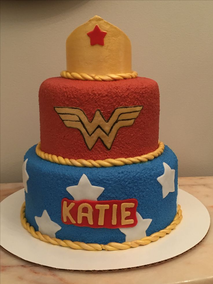 Custom homemade wonder women cake