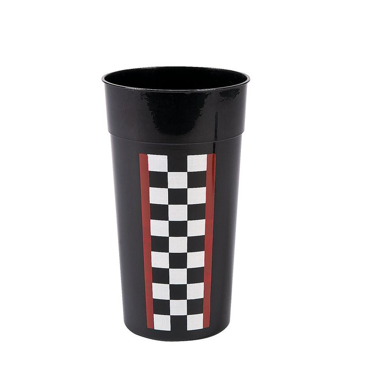 Race Car Checkered Flag Tumblers - OrientalTrading.com