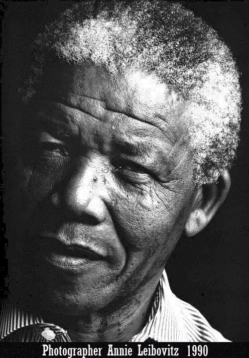 1- La foto original de Annie Leibovitz http://annieleibovitz.tumblr.com/  #Madiba #NelsonMandela