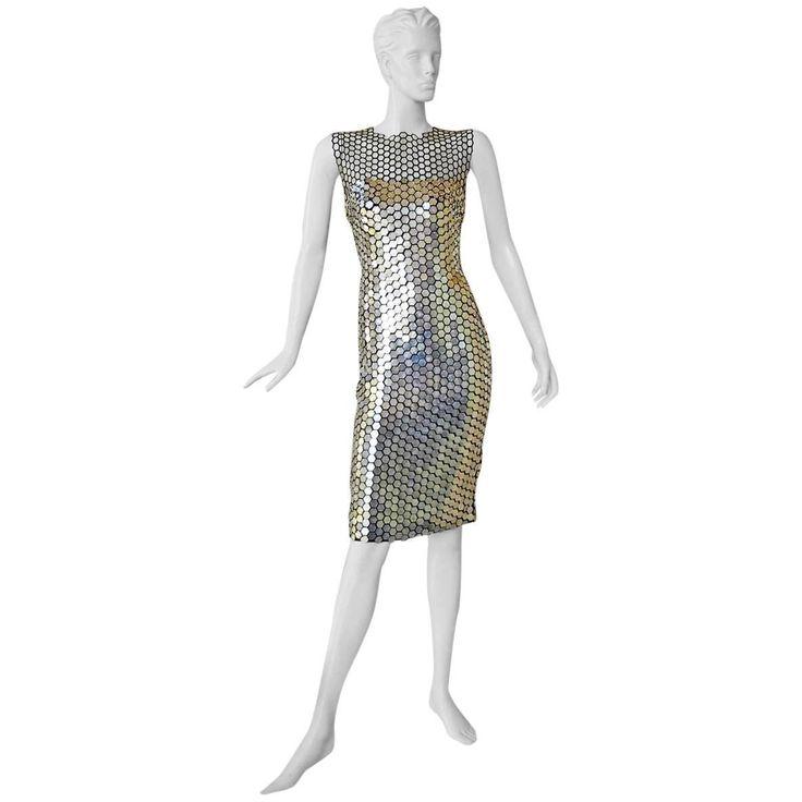 New Tom Ford Magnificent Metal Evening Dress