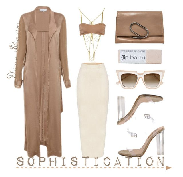 """""""Sophistication"""" by adswil ❤ liked on Polyvore featuring Norma Kamali, self-portrait, YEEZY Season 2, 3.1 Phillip Lim, Sexy, neutrals, nude, Minimalist and sophistication"""
