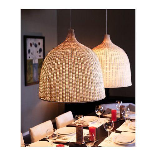 LERAN Hanglamp IKEA Elke handgemaakte lampenkap is uniek. Geeft zowel gericht…