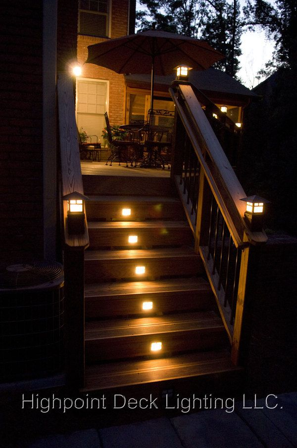 deck lighting some family members should invest in this idea of.lighting up their steps!