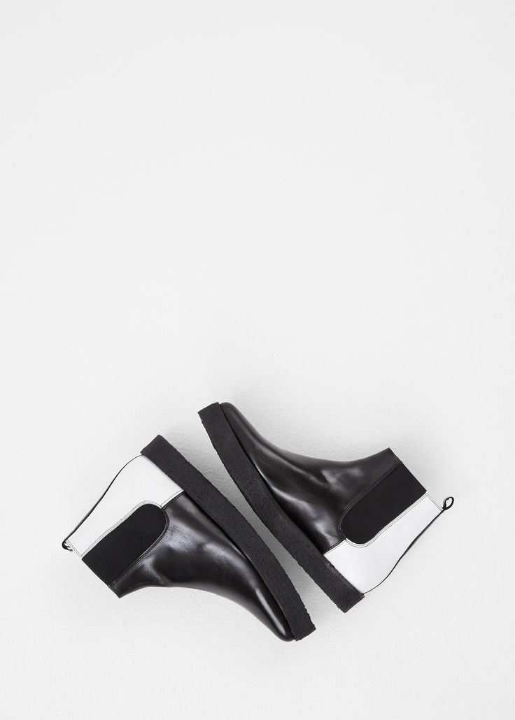 Pierre Hardy Black / White Wedge Sole Chelsea Boot