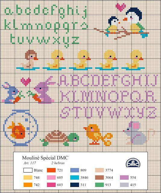 Χειροτεχνήματα: μικρά παιδικά μοτίβα σταυροβελονιά /small children cross stitch motifs