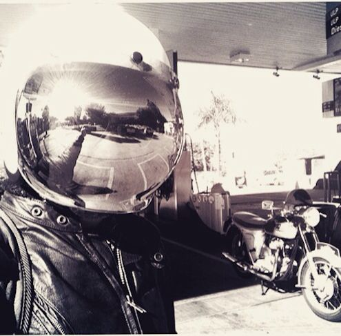 Cafe racer, awesome morning for a bike ride