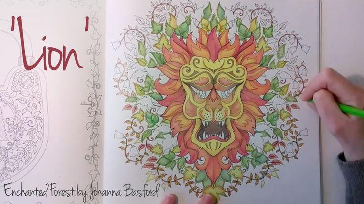 Enchanted Forest - Johanna Basford; Lion