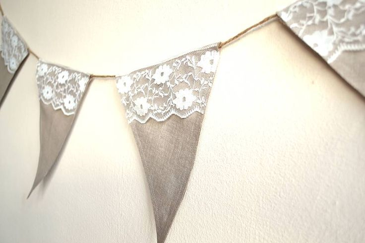 Rustic lace bunting from Bluebells and Bunting on NOTHS £24.99