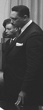 Leon Howard Sullivan (October 16, 1922 - April 24, 2001) was a Baptist minister, a civil rights leader and social activist focusing on the creation of job training opportunities for African Americans, a longtime General Motors Board Member, and an anti-Apartheid activist. Sullivan died on April 24, 2001, of leukemia at a Scottsdale, Arizona, hospital. He was 78.