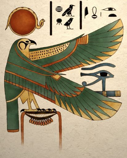 *This Falcon was named ''horus'' *Horus had many different forms He was the brother of Osiris Set and Nephthys
