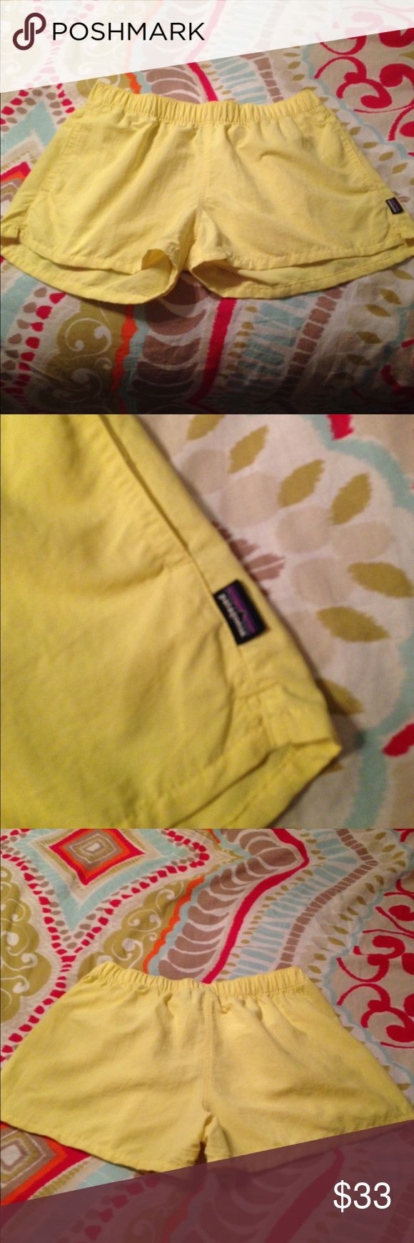 "Yellow Patagonia ""Baggies"" Shorts Never worn! Pretty yellow color! Has pockets! 2.5"" inseam! Women's Medium Patagonia Shorts"