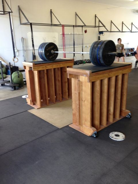 Jerk blocks with wheels crypted molesting chambers garage gym