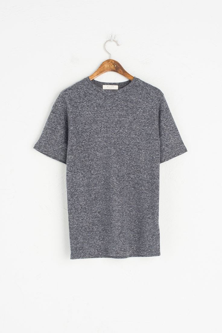 Olive - Round Neck Short Sleeve Tee, Charcoal, £35.00 (http://www.oliveclothing.com/p-oliveunique-20170118-003-charcoal-round-neck-short-sleeve-tee-charcoal)