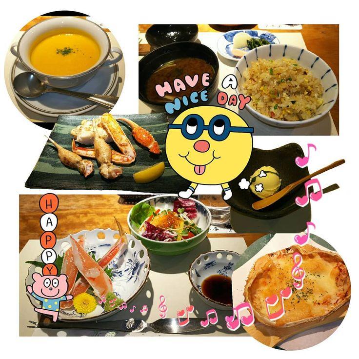 かに家 蟹遊亭 ポプラ ランチセット 目の前の鉄板で調理する焼きカニかステーキかメインをどちらにするか悩ましいところ カボチャのスープがあってピラフとともにお味噌汁もあって和だったり洋だったり #crab #kani #food #japanesefood #fresh #Restaurant #lunchi #eat #oishii #tasty #delicious #Gourmet #Gastronomy #nagoya