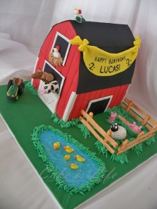 Barn Birthday Cake: Cakes Ideas, Farms Cakes, Birthday Parties, Barnyard Parties, Barns Cakes, Parties Ideas, Barnyard Farms, Birthday Cakes, Birthday Ideas
