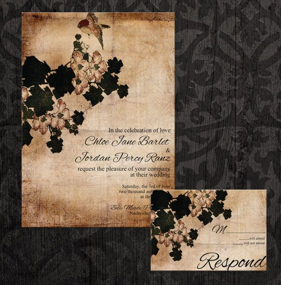 Rustic Wedding Invitation  Fall wedding Invitation by AHStationer, sooo nice!