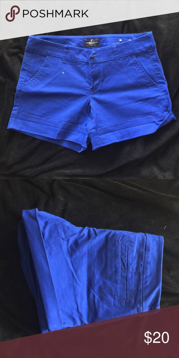 Cobalt American eagle midi shorts Cobalt blue. Brand new!! Never worn midi shorts. Inseam 3.5 inches. American Eagle Outfitters Shorts