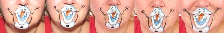 Olaf from Frozen Mouthpainting ;-)