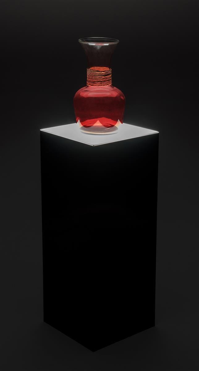 "12/"" ACRYLIC FROSTED MATT BLACK  PHOTO TABLE RISER RARE"