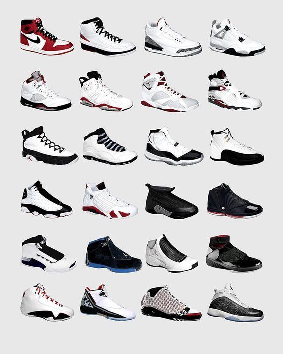 cheaper a1fd8 356c9 Nike Air Jordans Jordan Poster Nike Poster Michael   Etsy