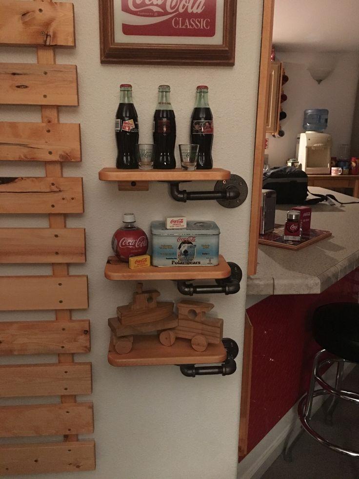 Wood and Iron Display Shelves