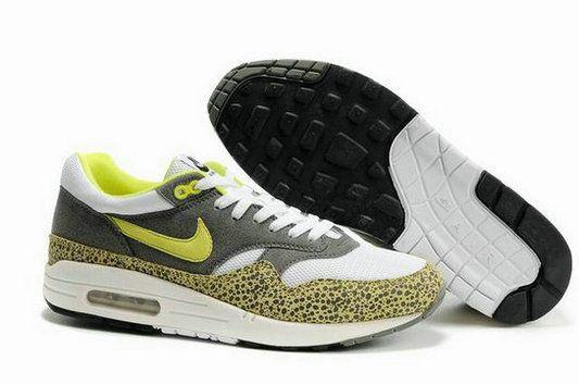 NNfYM4 Men's Nike Air Max 1 White Grey Geen UK