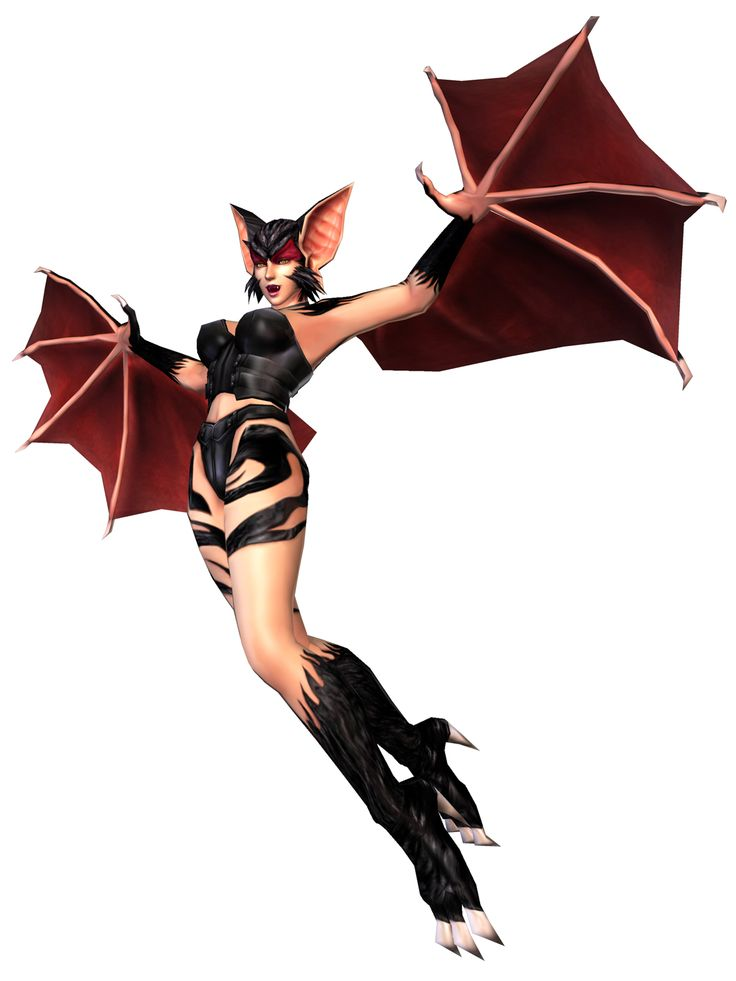 Jenny from Bloody Roar: Primal Fury her bat/succubus form. Her bat form combos used to be really tricky for me to pull off, haha.