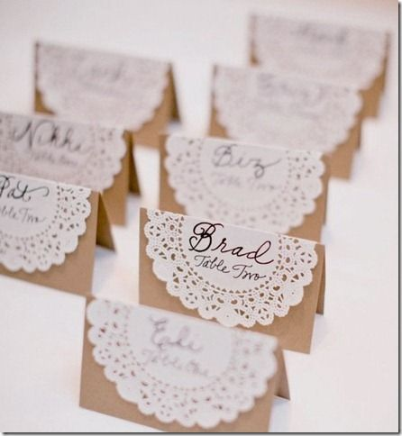 Easy to make wedding placement cards @ Wedding-Day-Bliss
