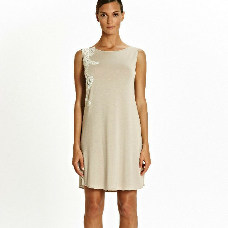 Tata Cafe au Lait jersey with Lace detail Nightdress sizes 8 to 20