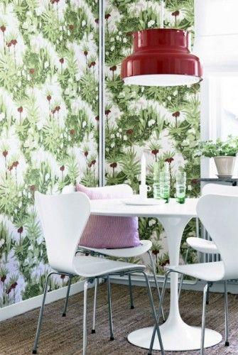 Tapete Kejsarkrona - Florale Mustertapete von Boras