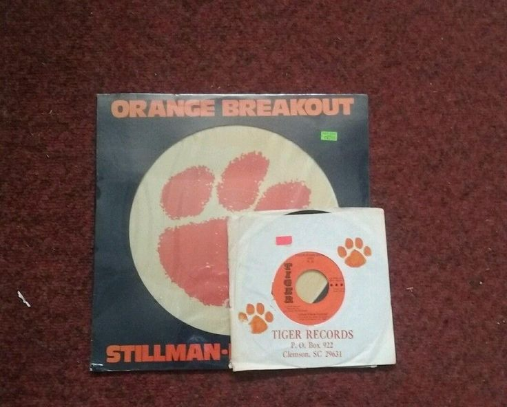 Factory Sealed Clemson Tiger's Orange Breakout and a Clemson 45 record   #1822310446