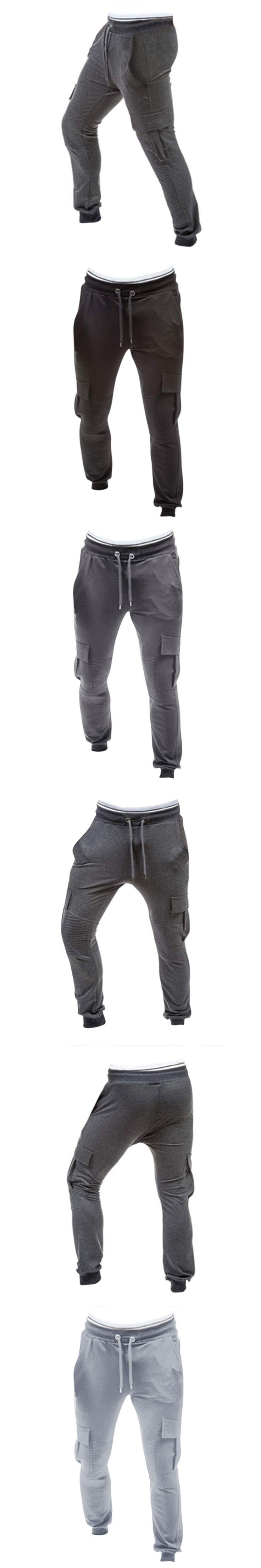 Men Casual Harem Pants 2018 Sprig Male Drawstring Long Workout Pants Cotton Joggers Tracksuit Trousers Male Sweatpants 3XL