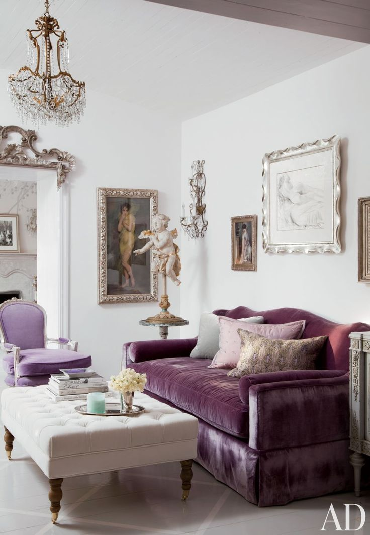Adorable Living Room Inspiration with One Purple