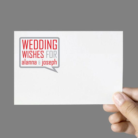 Printable Guestbook Cards Wedding Guestbook Alternative Wedding Wishes Personalized Sample Digital File for Self-Print