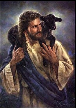 Nathan Greene The Good Shepherd Canvas Giclee #NathanGreene #Inspirational.The Good Shepherd is Nathan Greene's second in a series of paintings featuring Christ with a little lamb. This portrayal shows the joy of Jesus in caring for His little lambs. There are times when a little lamb needs more than just being held--it needs to be carried.