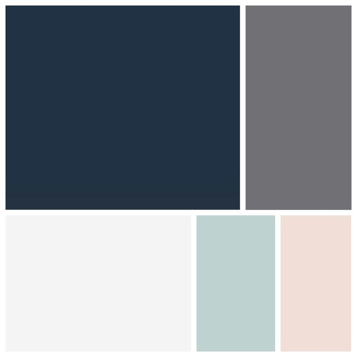 MASTER BEDROOM COLOR SCHEME - dark blue walls, possible just accent wall with dark gray surrounding. White trim & furniture. Light blue, blush and gray or dark blue accents