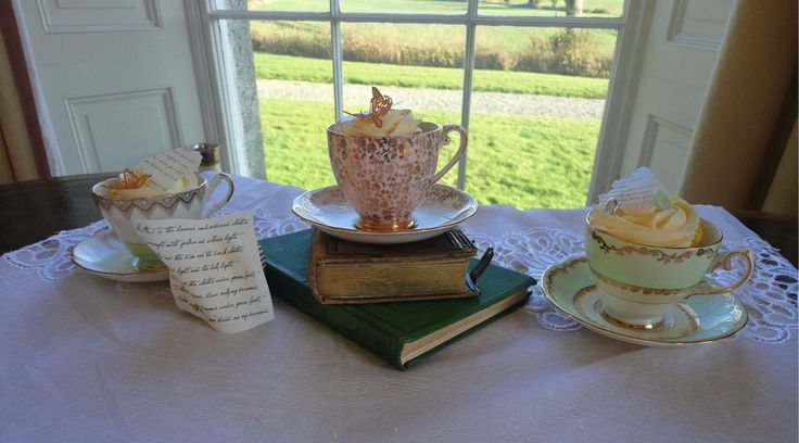 A fabulous vintage tea party with pretty china and cupcakes
