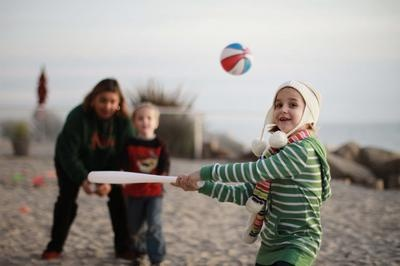 WINNER-2012-CONGRATULATIONS Chris -----------  Beach Baseball Fun And Games: My family lives in Southern California, so Christmas time for us is usually not worse than a slight chill in the air.    This year, we went down -- as