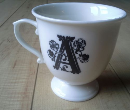 Monogram initial quotaquot coffee tea cup from anthropologie for Monogram letters for cups