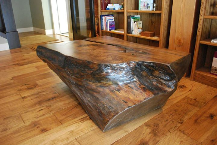 Log Coffee Table  || #custom #reclaimed #timber #wood #sustainable #ecofriendly #design || Copyright © 2015 Canadian Heritage Timber Company || http://www.canadianheritagetimber.com/