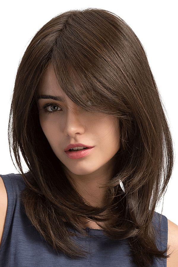 Long Natural Straight Side Fringe Capless Synthetic Wigs 20 Inches Haircuts For Long Hair With Layers Medium Hair Styles Hair Styles