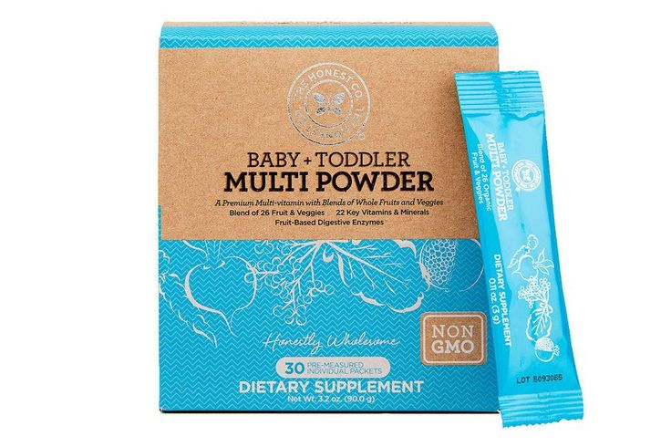 22 vitamins from 31 organic fruit/veggies, plus probiotics and more! Honest's Baby and Toddler Multi Powder looks great!