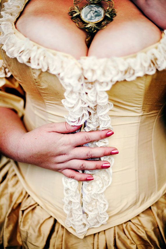 Plus Size Victorian Wedding Dress Corseted Jacket By