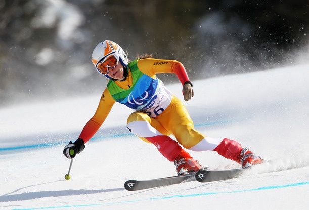 At the Paralympic Games, Alpine Skiiers can compete in five different events: Downhill, Super-G, Super Combined, Slalom and Giant Slalom.    Competition is for those with a physical disability such as a spinal cord injury, cerebral palsy, amputation, les autres conditions and visual impairment. Athletes compete in three categories based on their functional ability, and a results calculation system allows athletes with different impairments to compete against one another.